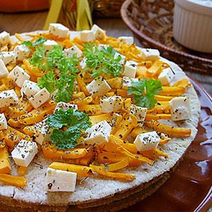 Фото – рецепт торта с тыквой и брынзой