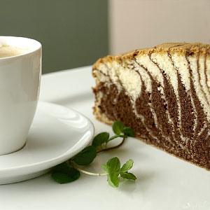 Домашний торт Зебра на сметане