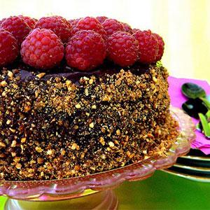 Шоколадно-малиновый торт рецепт фото
