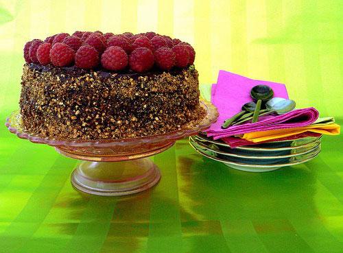 Шоколадно-малиновый торт рецепт итоговое фото