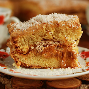 Карамельно-апельсиновый торт