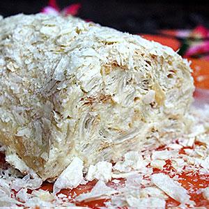 Слоеное полено рецепт торта с фото пошагово