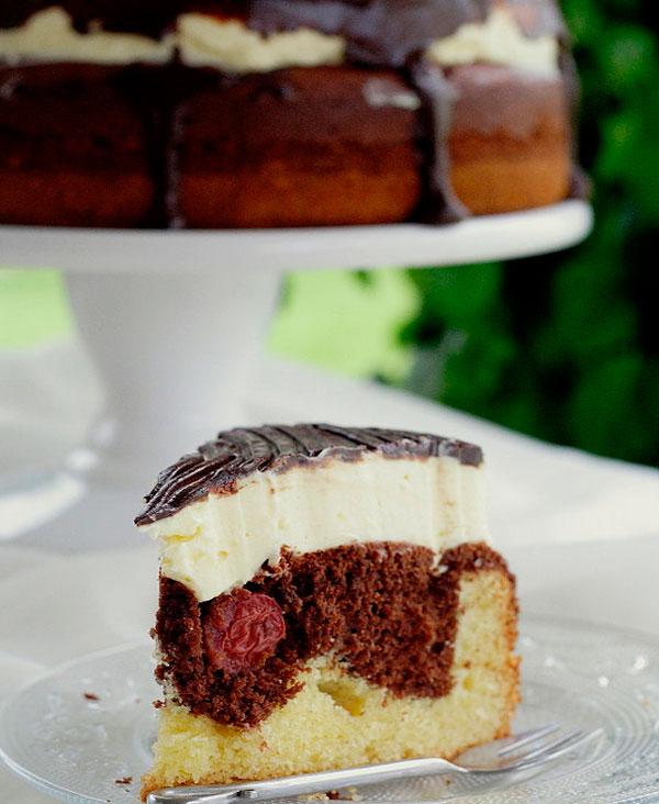 Дунайские волны - бисквитный торт с вишней