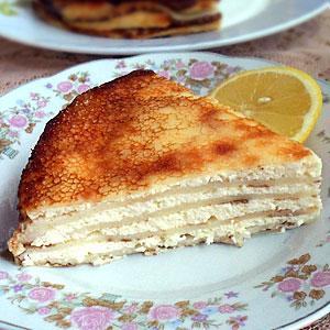 Блинный торт с творожным кремом рецепт с фото