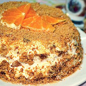 Торт из пряников со сметаной рецепт с фото