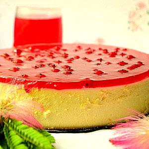 Желейный торт со сметаной и бисквитом рецепт с фото