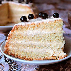 Торт Манник на кефире рецепт с фото шагов