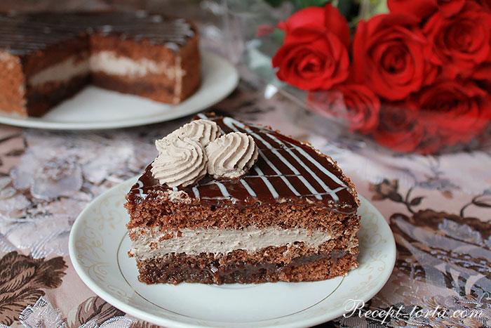 Шоколадный торт с черносливом - итоговое фото