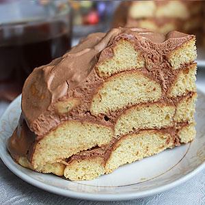 Торт Горка из творожного печенья - фото