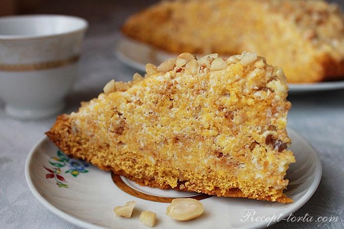 Фото готового торта Манник