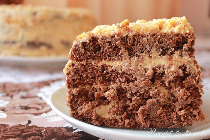 Шоколадный торт по рецепту в домашних условиях - фото
