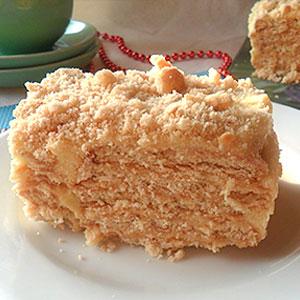 Торт из простого печенья с заварным кремом
