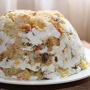 Торт из кулича, котрый зачетсвел