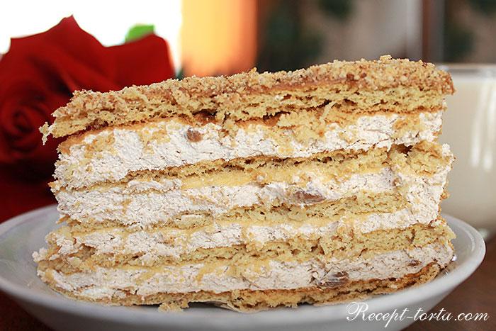 Готовый торт Рыжик по лучшему рецепту - фото