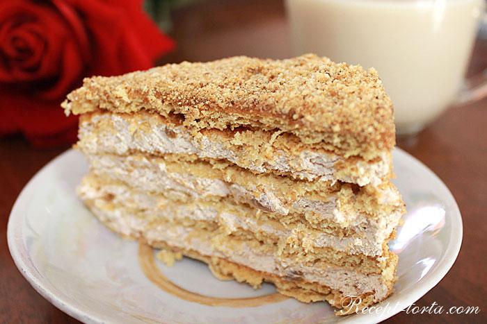 Самый вкусный торт Рыжик в разрезе - фото