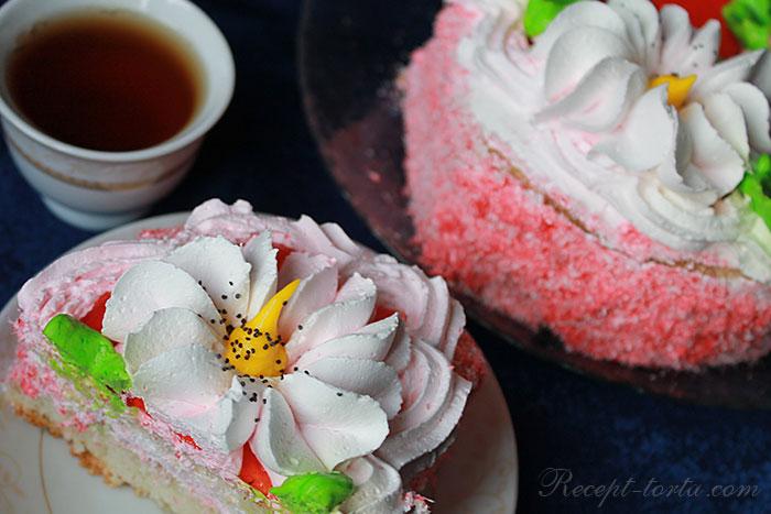 Классический крем из сливок для торта - фото