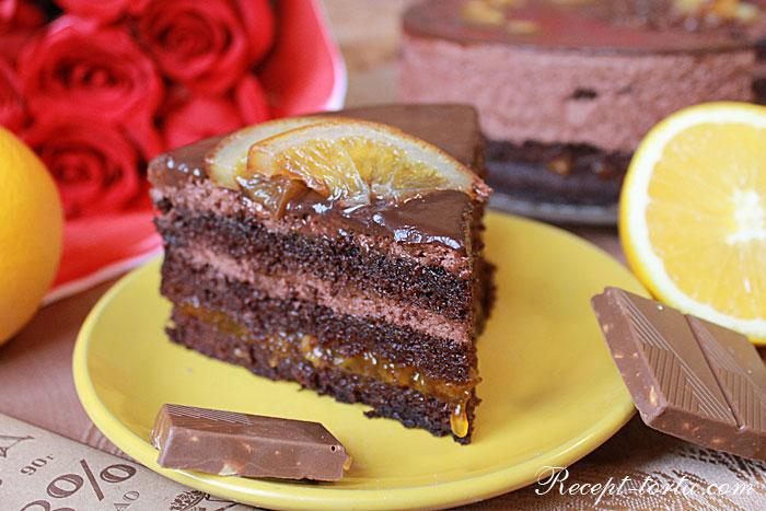 Фото торта Шоколадный апельсин