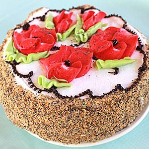 Рецепт бисквитного торта с маком и сгущенкой