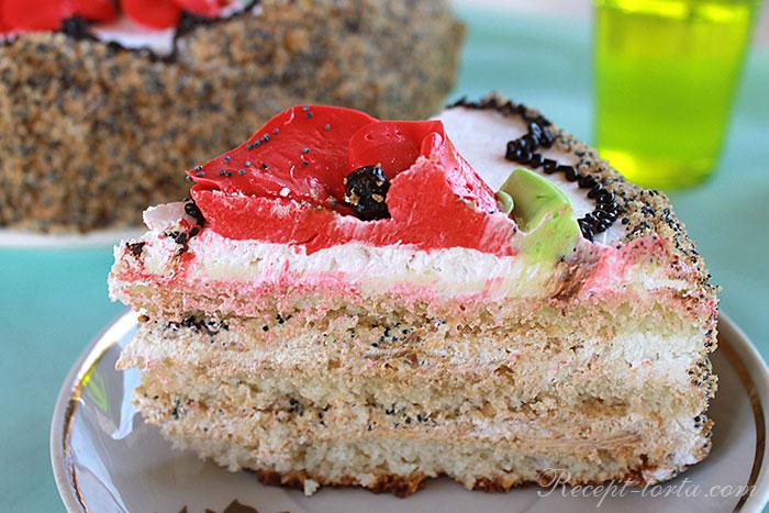 Торт с маком  - итоговое фото