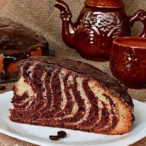 Рецепт торта Зебра на кефире