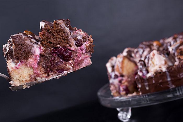 Торт Графские развалины с аишней в разрезе