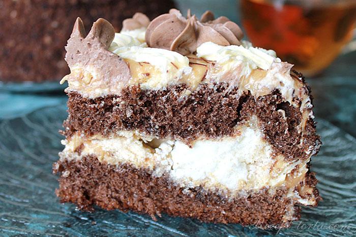 Шоколадный торт на кефире - в разрезе фото