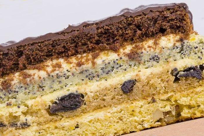 Классический торт Наташа в разрезе - фото