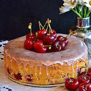 Бисквитный торт с вишней - лучшие рецепты