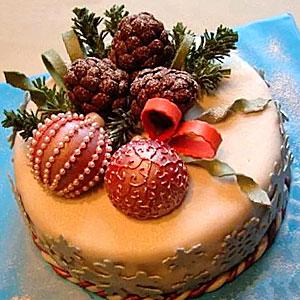 Как украсить торт на Новый год - фото и советы