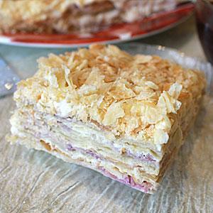 Торт Наполеон с кремом Пломбир - фото