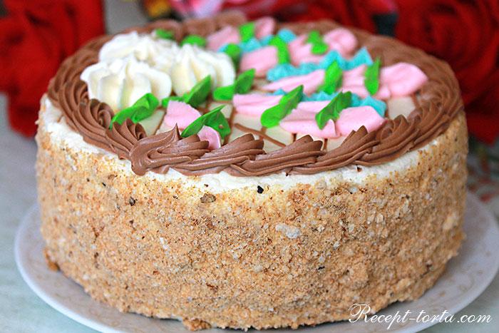 Итоговое фото Киевского торта по классическому рецепту
