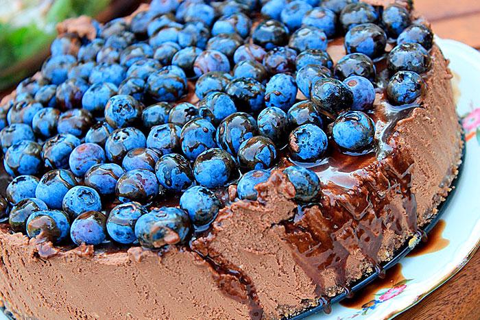 Шоколадный Американский чизкейк без выпечки - итоговое фото