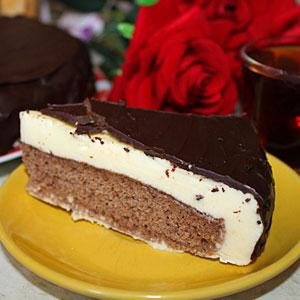 Рецепт торта Птичье молоко на сливках