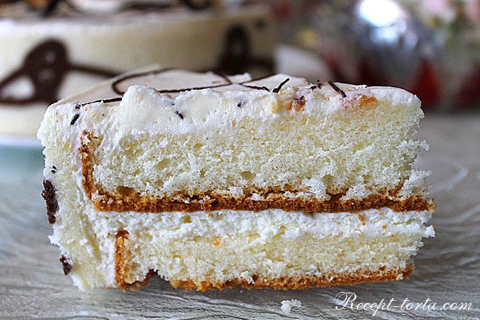 Фото Сырного крема в торте