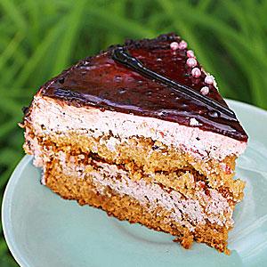 Торт Медовый пух - фото в нарезке
