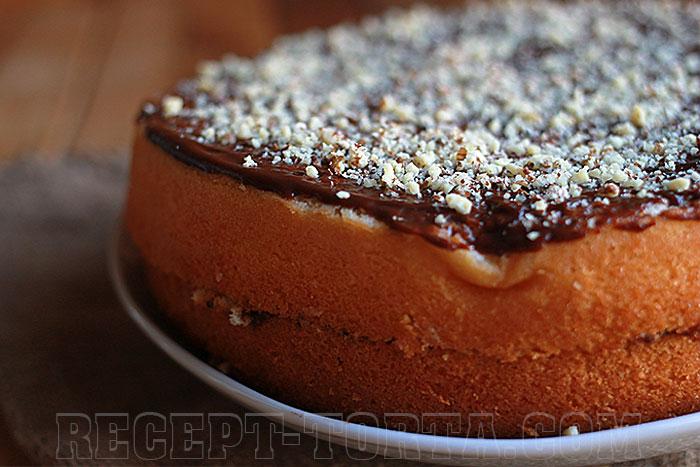 Готовый бисквитный торт в мультиварке