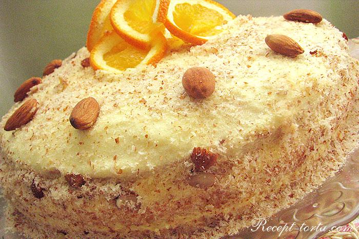 Фото готового апельсинового торта