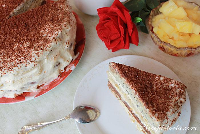 Торт Бедный еврей в сервировке стола -фото