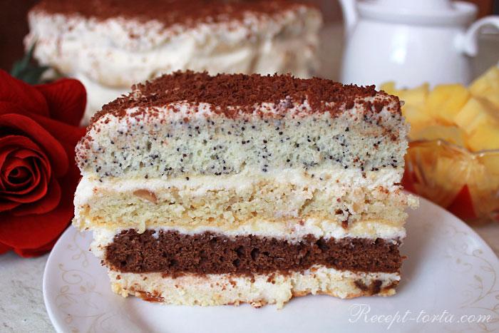 Итоговое фото кусочка торта Бедный еврей
