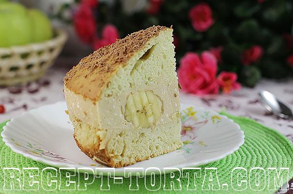 Фото рецепт бисквитного торта с творожным кремом