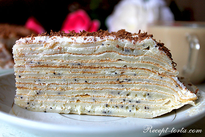 Блинно-маковый торт - итоговое фото