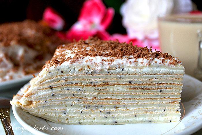 Маковый торт из блинов - итоговое фото