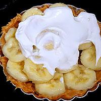 Смажем верх бананового чизкейка