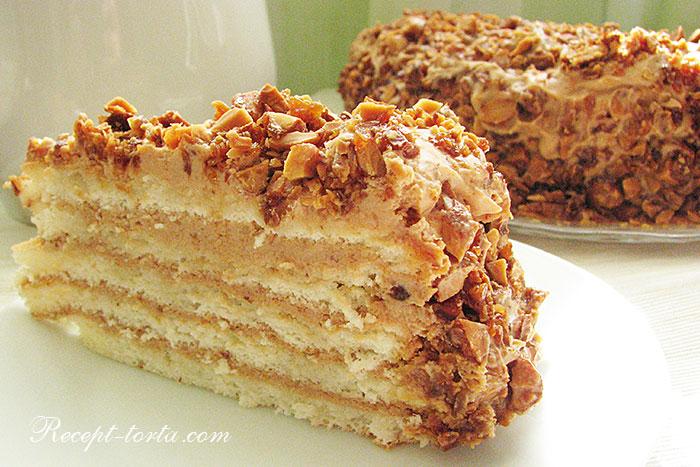 Торт Добош в разрезе - фото