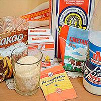 Ингредиенты для нежного торта из заварного крема
