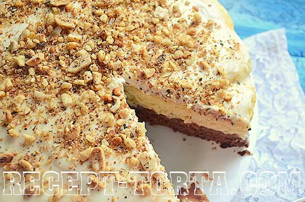 Нежный торт из заварного крема - фото