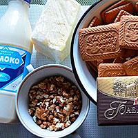 Подготовим ингредиенты для шоколадного торта без выпечки
