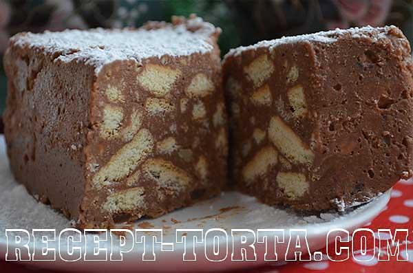 Итоговое фото шоколадного торта без выпечки