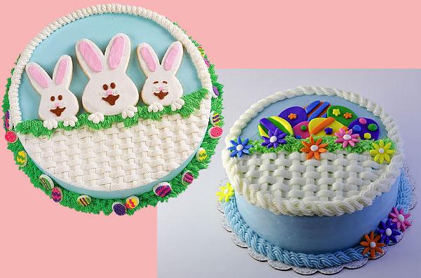 Торт-корзинка декорированная кулинарной мастикой