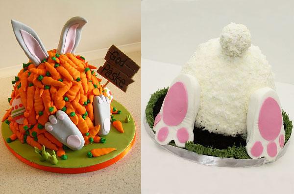 Торт в виде пасхального кролика